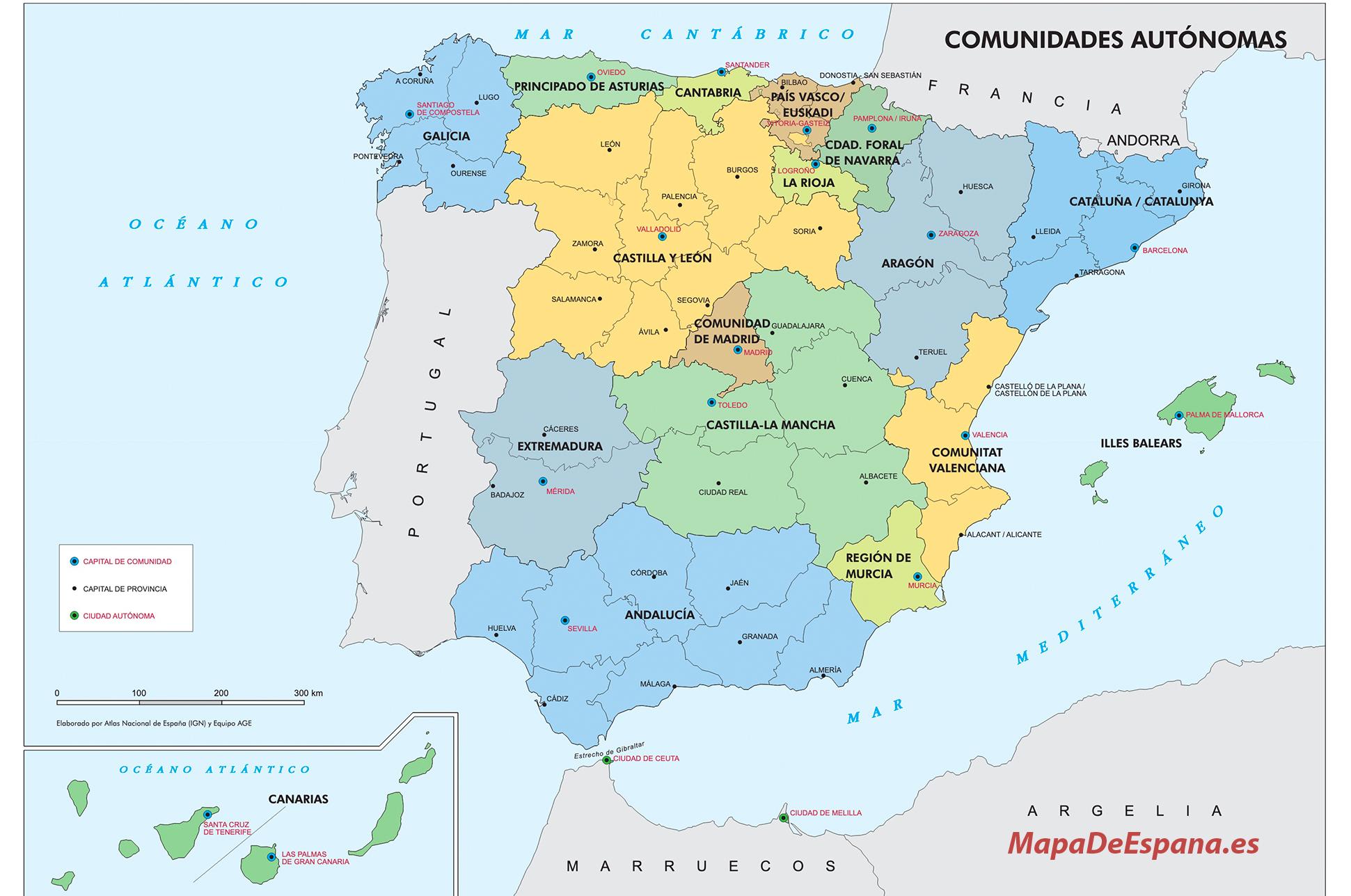 Mapa De Espana Pdf.Mapa De Espana Politico Fisico Y Mudo Listos Para Imprimir Actualizados