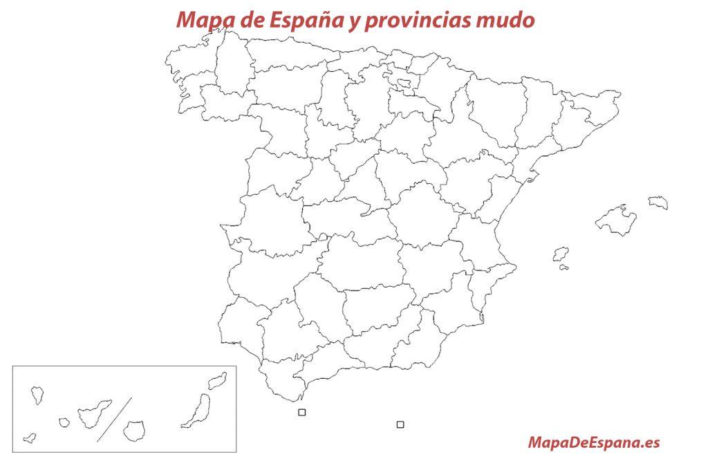 mapa espana priovincias mudo